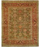 RugStudio presents HRI Mahal MJ-7 Green Red Hand-Knotted, Best Quality Area Rug